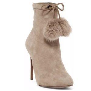 Michael Kors Remi Suede Khaki Ankle Bootie 9.5